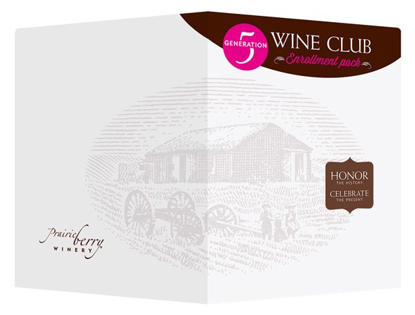 Prairie Berry Winery Club Presentation Folder (Front and Back View)
