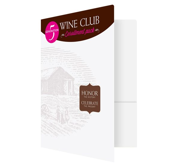 Prairie Berry Winery Club Presentation Folder (Front Open View)
