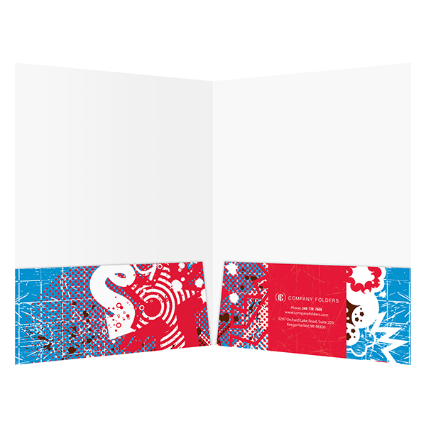 Snowboarding Presentation Folder Template