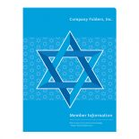Star of David Jewish Organization Folder Template