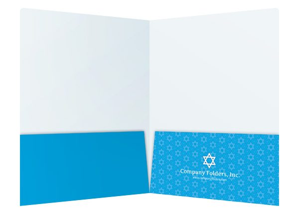 Star of David Jewish Organization Folder Template (Inside View)