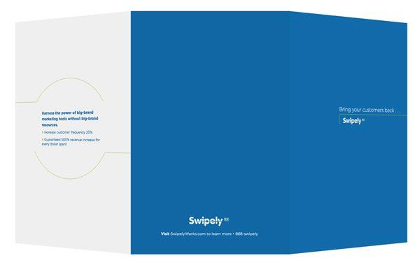 Swipely Small Tri-Fold Presentation Folder (Back View)