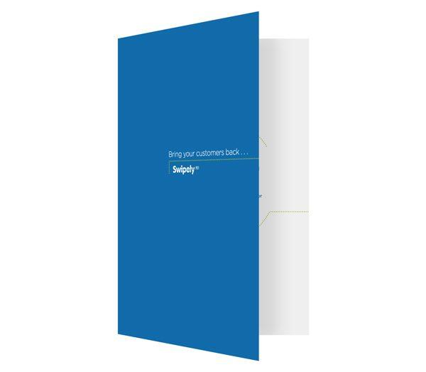 Swipely Small Tri-Fold Presentation Folder (Front Open View)