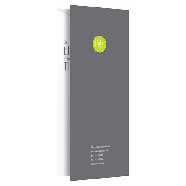 Tish Flooring Small Pocket Folder (Back Open View)