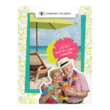 Tropical Beach Tourism Pocket Folder Template