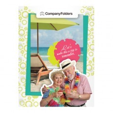 Tropical Beach Tourism Pocket Folder Template (Front View)
