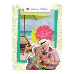 Tropical Beach Tourism Pocket Folder Template (Front View)
