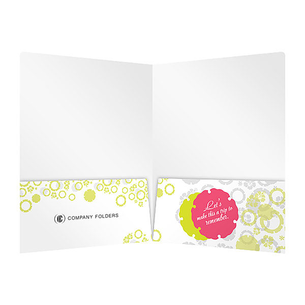 Tropical Beach Tourism Pocket Folder Template (Inside View)