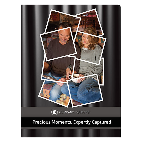 Captured Moments Photography Presentation Folder Template (Front View)