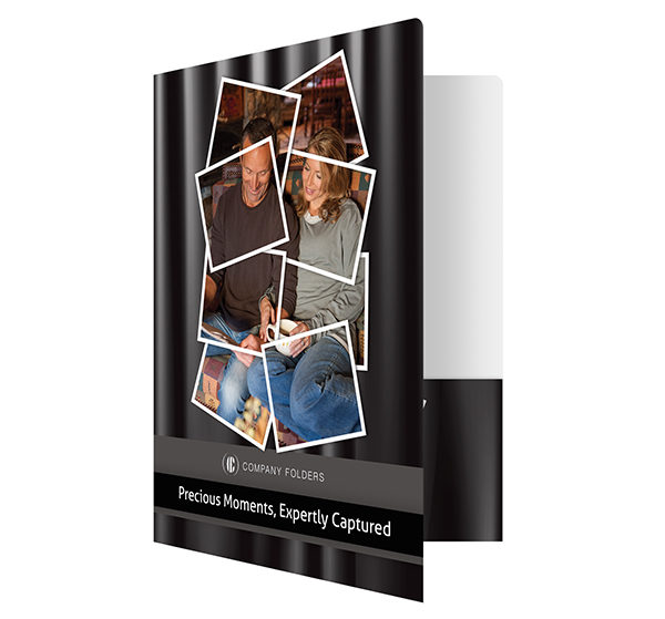 Captured Moments Photography Presentation Folder Template (Front Open View)