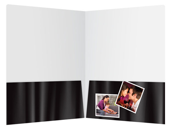 Captured Moments Photography Presentation Folder Template (Inside View)
