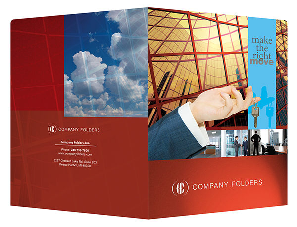 Corporate Offices Real Estate Folder Template (Front and Back View)