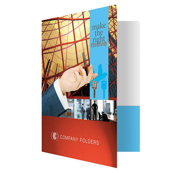 Corporate Offices Real Estate Folder Template (Front Open View)
