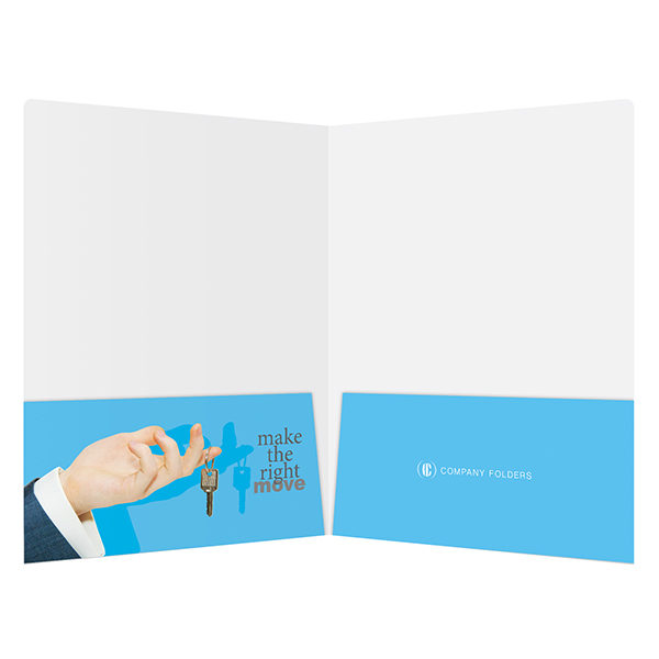 Corporate Offices Real Estate Folder Template (Inside View)