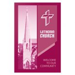 Magenta Lutheran Church Visitor Folder Template