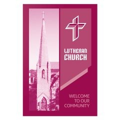 Magenta Lutheran Church Visitor Folder Template (Front View)