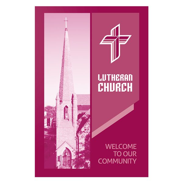 Magenta Lutheran Church Visitor Folder Template