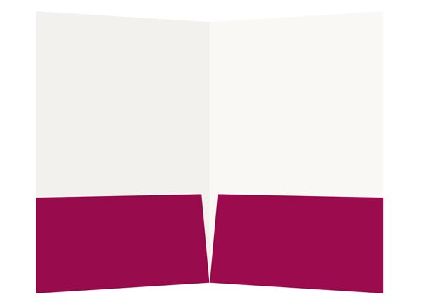 Magenta Lutheran Church Visitor Folder Template (Inside View)