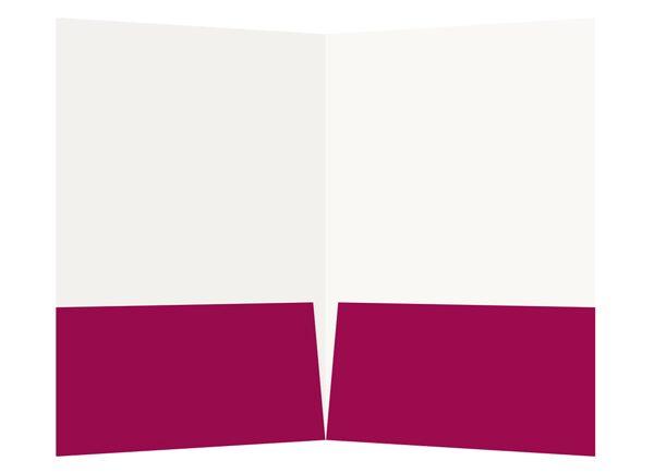 Magenta Lutheran Church Visitor Folder Template (Inside View)