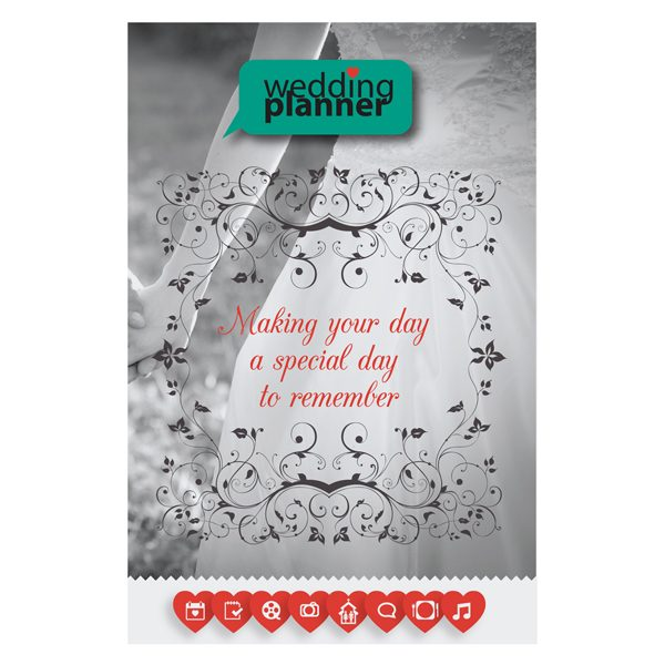 Ornate Wedding Planner Pocket Folder Template (Front View)