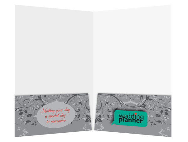 Ornate Wedding Planner Pocket Folder Template (Inside View)
