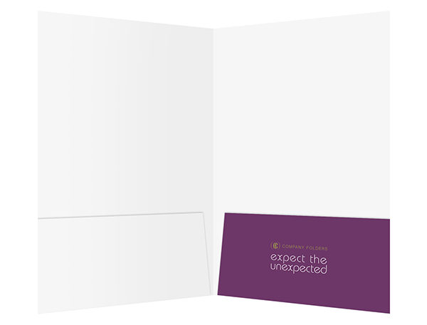 Purple Sightseeing Travel Folder Template (Inside View)