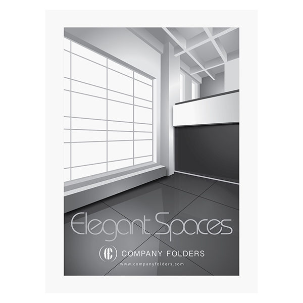 Elegant Spaces Architect Presentation Folder Template (Front View)