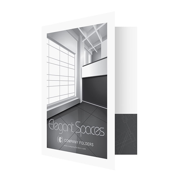 Elegant Spaces Architect Presentation Folder Template (Front Open View)