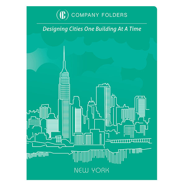 New York City Skyline Presentation Folder Template (Front View)