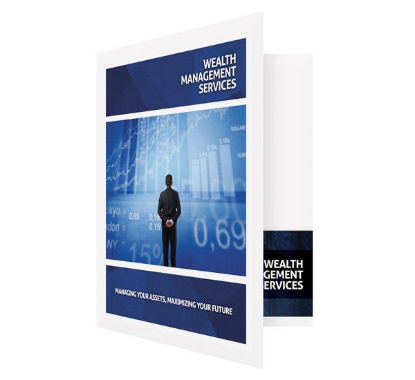 Wealth Management Services Presentation Folder Template (Front Open View)