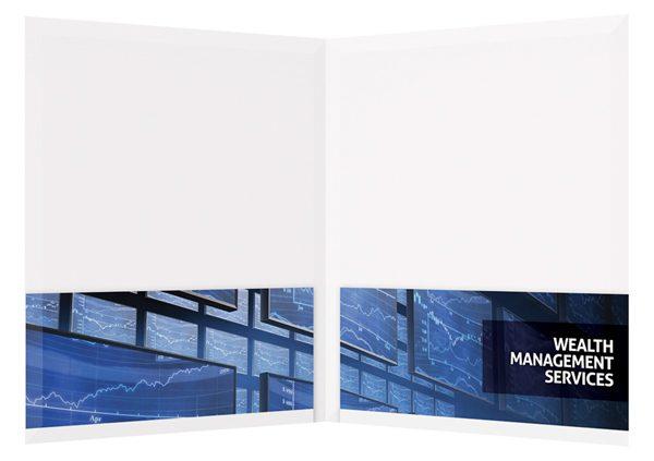 Wealth Management Services Presentation Folder Template (Inside View)