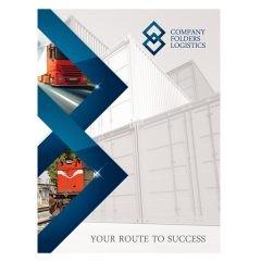 Blue Diamond Logistics Corporate Folder Template (Front View)