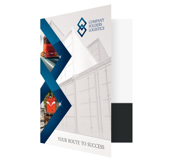 Blue Diamond Logistics Corporate Folder Template Front Open View