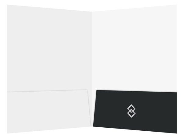 Blue Diamond Logistics Corporate Folder Template (Inside View)