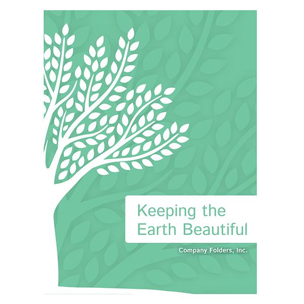 Green Eco-Friendly Presentation Folder Design Template (Front View)