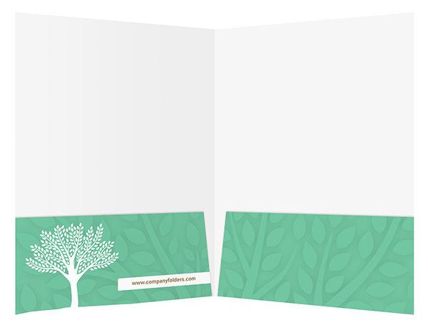 Green Eco-Friendly Presentation Folder Design Template (Inside View)