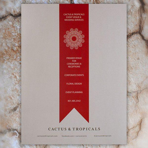 Cactus & Tropicals Event Venue & Wedding Folder (Back View)