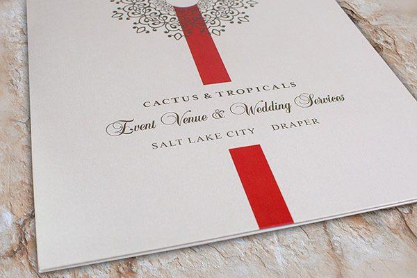 Cactus & Tropicals Event Venue & Wedding Folder (Front Close View)
