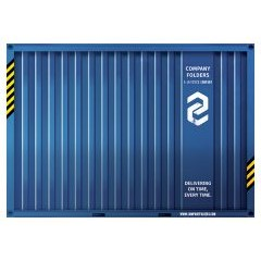 Shipping Container Presentation Folder Template (Front View)