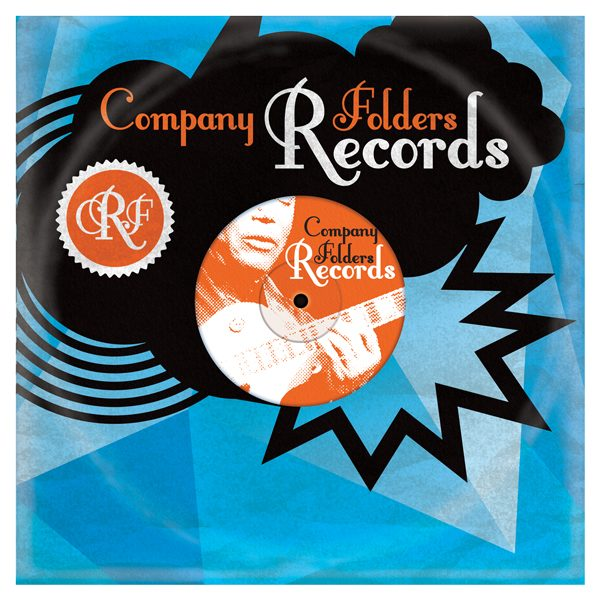 Stormcloud Record Label Folder Template (Front View)
