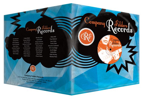 Stormcloud Record Label Folder Template (Front and Back View)