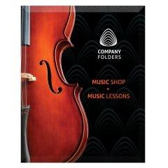 Violin Music Shop Presentation Folder Template (Front View)