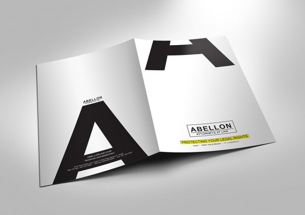 Abellon Law Firm Presentation Folder (Front and Back View)