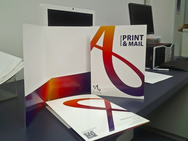 Allegra Marketing Presentation Folder (On Desk)