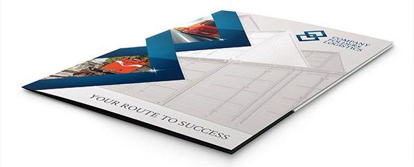 Blue Diamond Logistics Corporate Folder Template (Front Flat View)