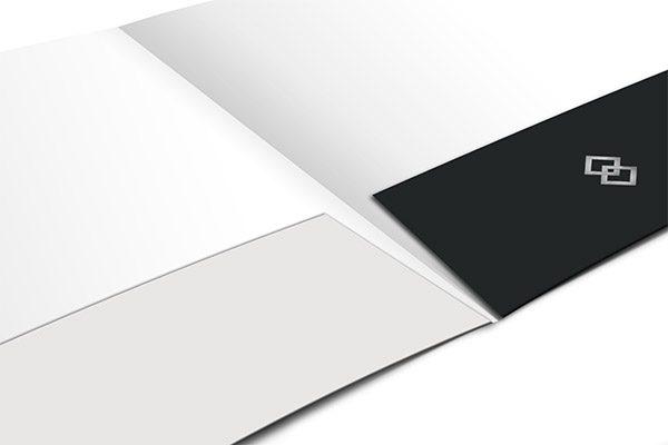 Blue Diamond Logistics Corporate Folder Template (Inside Flat View)