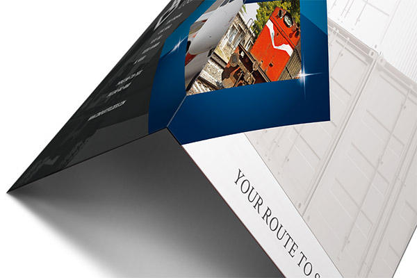 Blue Diamond Logistics Corporate Folder Template (Bottom Tent View)