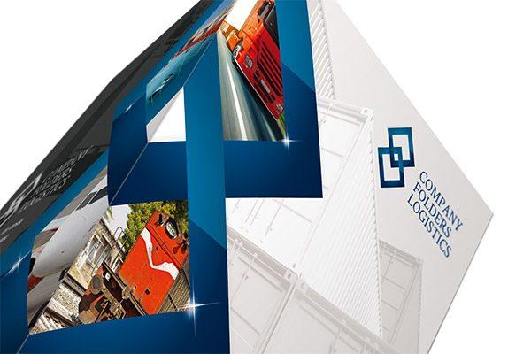 Blue Diamond Logistics Corporate Folder Template (Top Tent View)