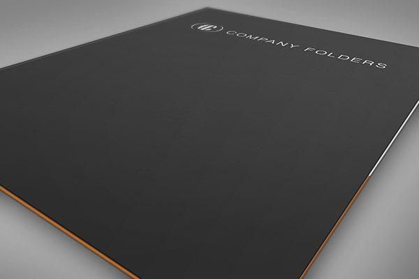 Close-Up Front Cover Folder Mockup Template