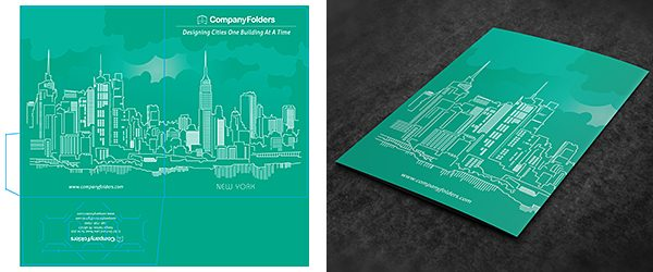 back cover business folder mockup template  free psd